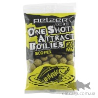 Бойлы Pelzer One Shot Attract Boilies Scopex 20мм 250гр