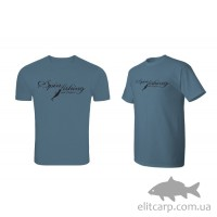 Футболка Delphin SPIN fishing/ cиній